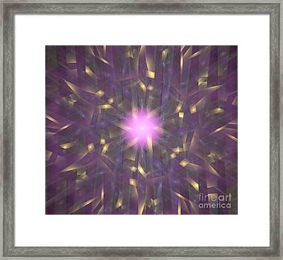 Violet Gold Bamboo Framed Print