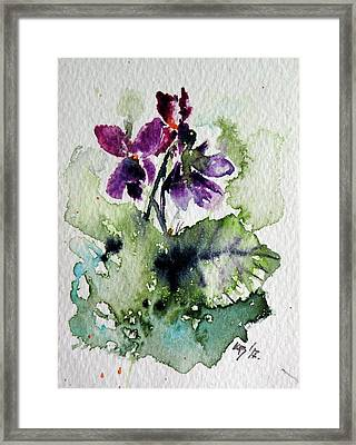 Framed Print featuring the painting Violet Iv by Kovacs Anna Brigitta