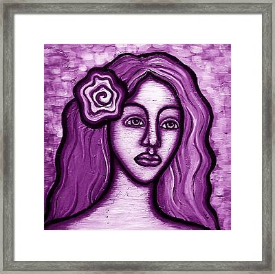 Violet Lady Framed Print by Brenda Higginson