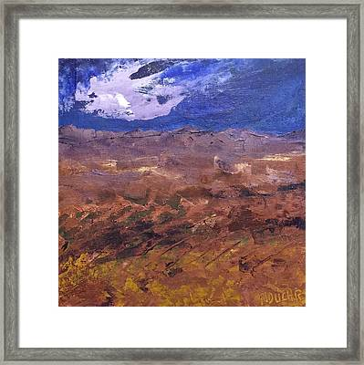 Framed Print featuring the painting Violet Night  by Norma Duch