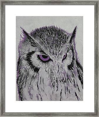 Violet Owl Framed Print