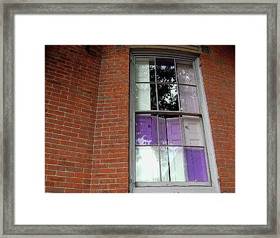 Violet Panes Framed Print by JAMART Photography