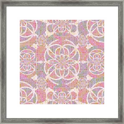 Violet Red Geometry Framed Print
