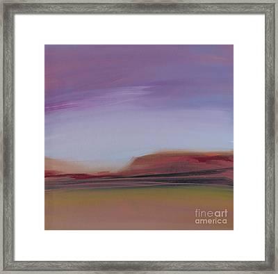 Violet Skies Framed Print