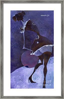 Violet Snawball Framed Print