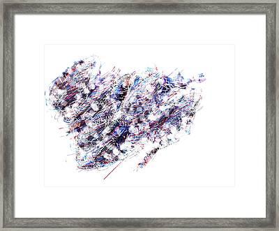Violet Storm Framed Print by Ingrid Van Amsterdam