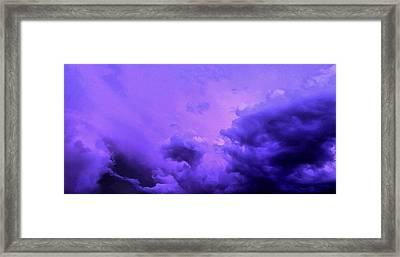 Violet Storm Framed Print