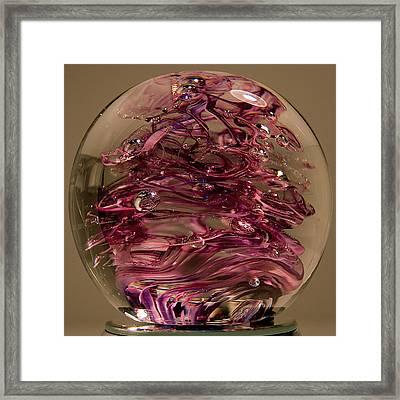 Violet Swirl Framed Print by David Patterson