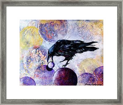Violet-velvet Lining Framed Print by Sandy Applegate