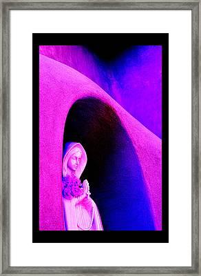 Violet Virgin Of Guadalupe Framed Print by Susanne Still