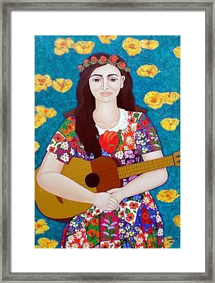 Violeta Parra And The Song The Gardener  Framed Print