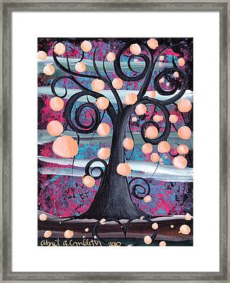 Violeta Tree Framed Print by  Abril Andrade Griffith