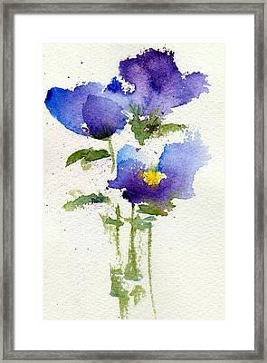 Violets Framed Print by Anne Duke