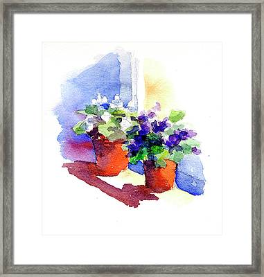 Violets Are Blue Framed Print