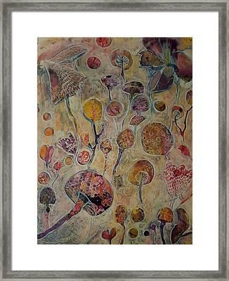 Violet's Fairy Garden Framed Print