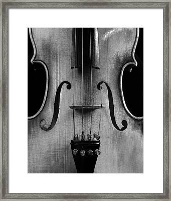 Violin # 2 Bw Framed Print by Jim Mathis