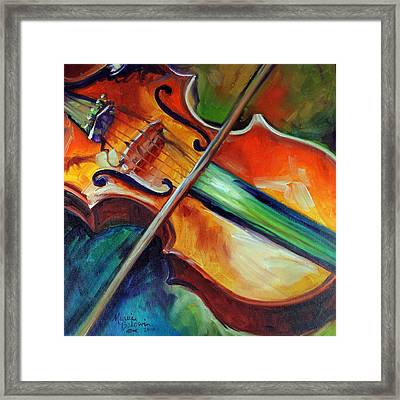 Violin Abstract 1818 Framed Print by Marcia Baldwin