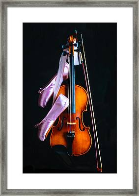 Violin And Pointe Shoes Framed Print