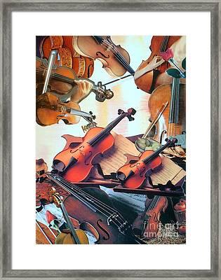 Violin Concierto Framed Print