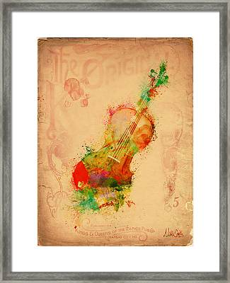 Violin Dreams Framed Print by Nikki Marie Smith