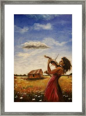 Framed Print featuring the painting Violin by Emery Franklin