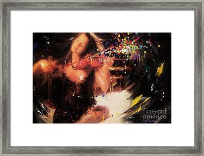 Violin Escape Framed Print