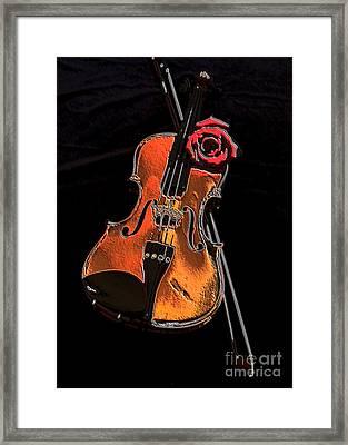 Violin Extreme Framed Print by Marsha Heiken