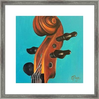 Violin Head Framed Print by Emily Page