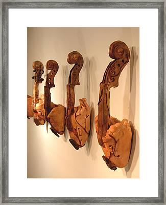 Violin Hearts Framed Print by Karissa Bishop
