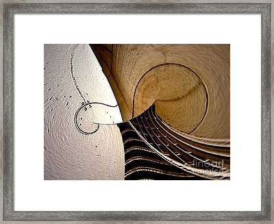 Violin In Abstract Framed Print