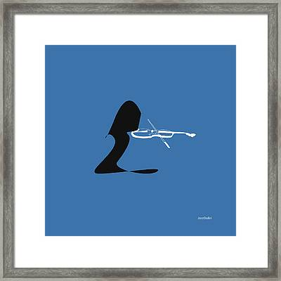 Violin In Blue Framed Print