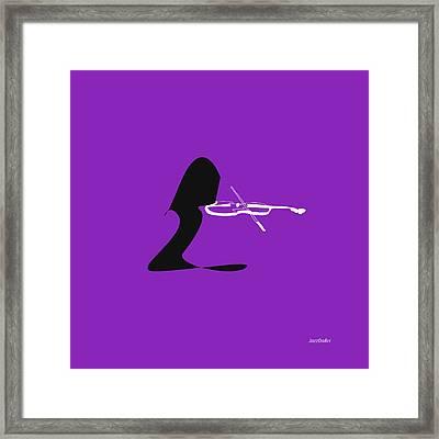 Violin In Purple Framed Print