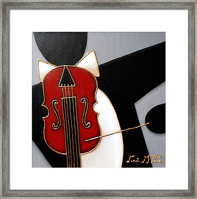 Violin Framed Print by Lori McPhee