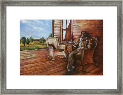 Framed Print featuring the painting Violin Man by Emery Franklin
