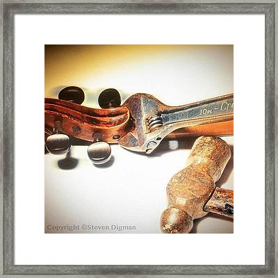 Violin Mechanics  Framed Print