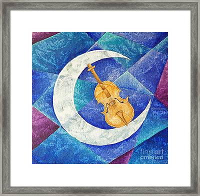 Violin-moon Framed Print by Son Of the Moon