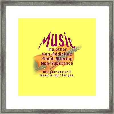 Violin Or Viola Music Is Right For You 5499.02 Framed Print by M K  Miller