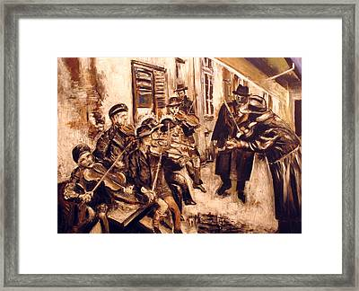 Violin Players  Framed Print by Vladimir Kezerashvili