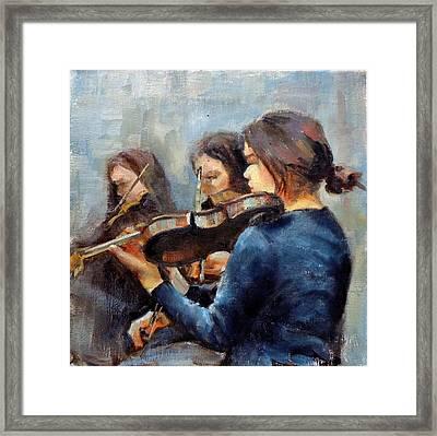 Violin Practice Framed Print by Donna Shortt