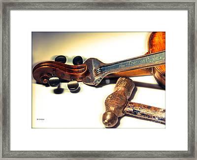 Violin Repair  Framed Print by Steven Digman