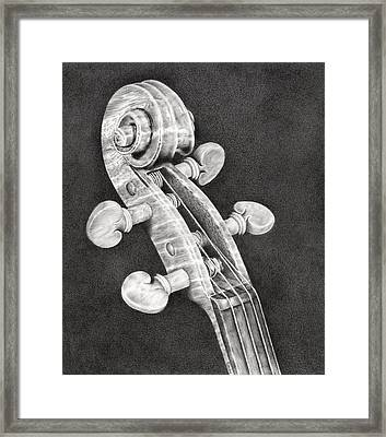 Violin Scroll Framed Print