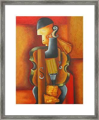 Violin Time Framed Print by Marta Giraldo