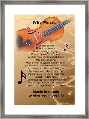 Violin Viola Why Music For T Shirts Or Posters 4831.02 Framed Print by M K  Miller
