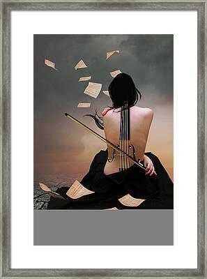 Violin Woman Framed Print