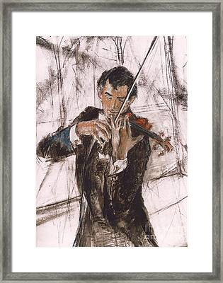 Framed Print featuring the painting Violinist by Debora Cardaci
