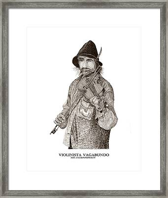 Violinista Busker Vagabundo Framed Print