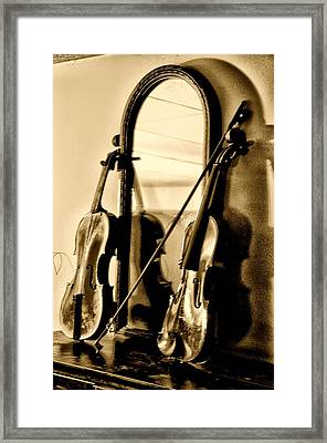 Violins Framed Print by Bill Cannon