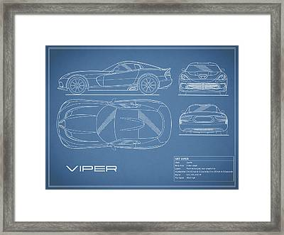Viper Blueprint Framed Print