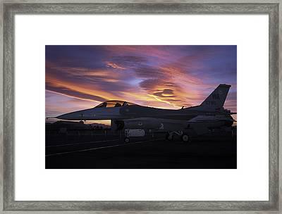 Viper Sunset Framed Print by John Clark