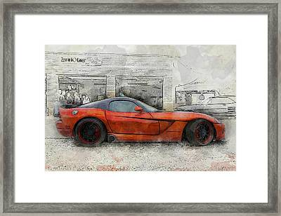 Framed Print featuring the photograph Viper Zero To 60 by Joel Witmeyer